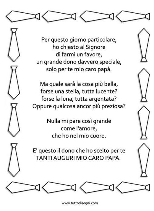 Poesia Festa del Papà con cornice - TuttoDisegni.com