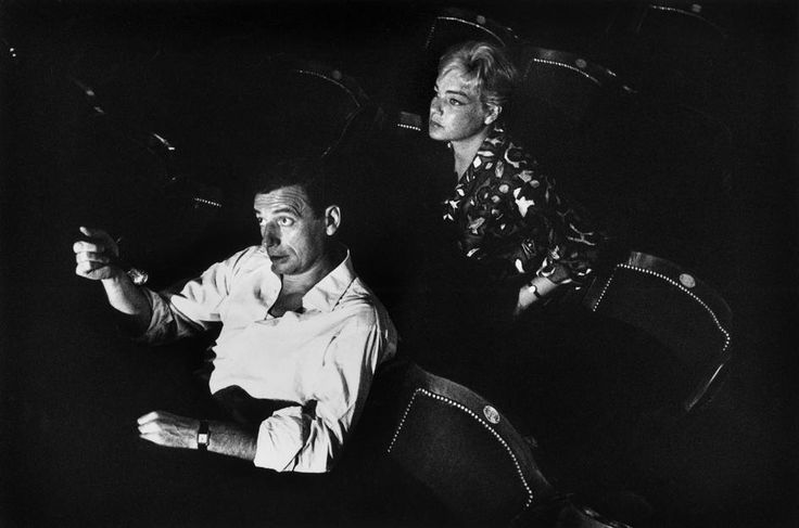 Yves Montand and Simone Signoret by Inge Morath, 1960  photo found on one of my favorite blogs, http://theredlist.com