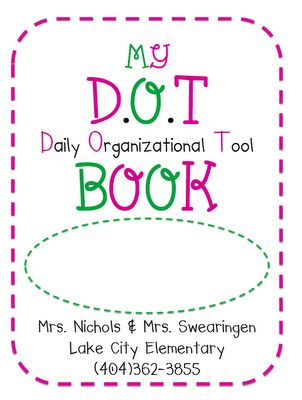 Dot book with letter home to parents