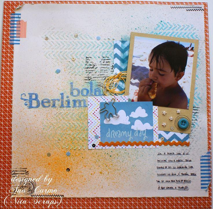 Nita Scraps: Layout - Bola de Berlim http://nita-scraps.blogspot.pt/