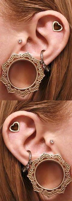 Cheroka Tribal Brass Ear Gauge Plugs