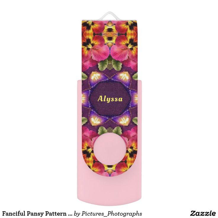 Fanciful Pansy Pattern ~Personalised ALYSSA ~