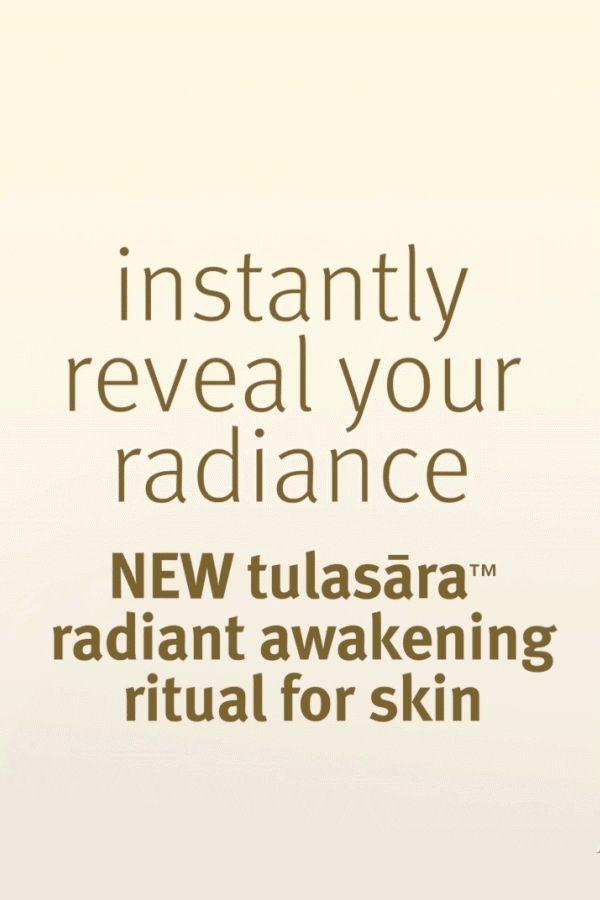 Introducing Aveda's new Tulasāra Radiant Awakening Ritual, enhanced with Ayurvedic ingredients to reveal gorgeous, radiant skin.