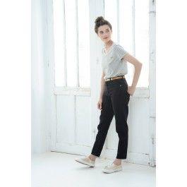 Tee shirt Rosane Ecru Noir @ DES PETITS HAUTS