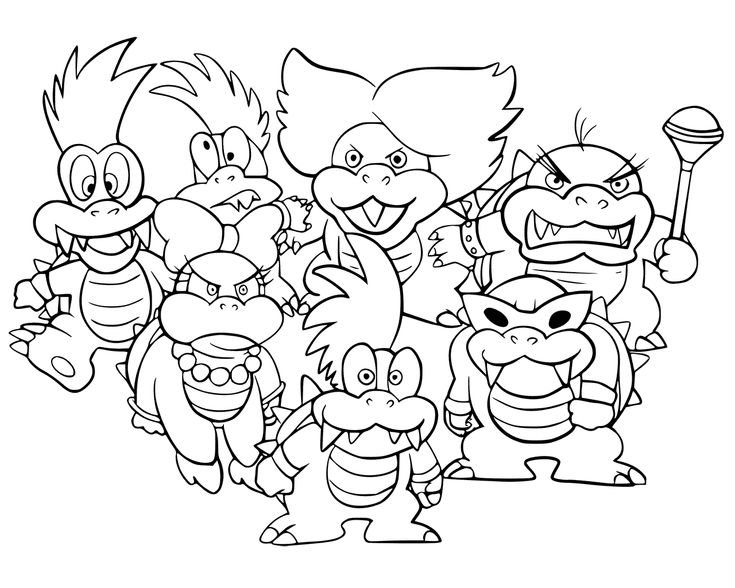 Bowser Coloring Pages - Best Coloring Pages For Kids in ...