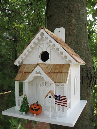 Season's Tweetings birdhouse
