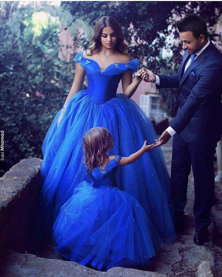 #Vestido mãe filha Cinderela Inspires Disney Princess Princesa