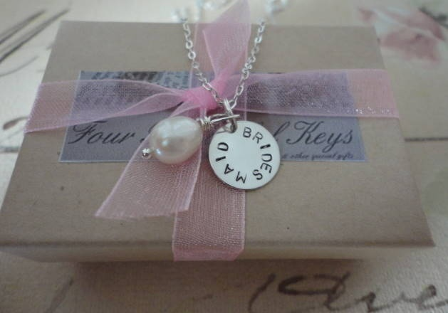 Personalise these gorgeous necklace sets! perfect bridesmaid gifts! www.Fourbeautifulkeys.co.uk