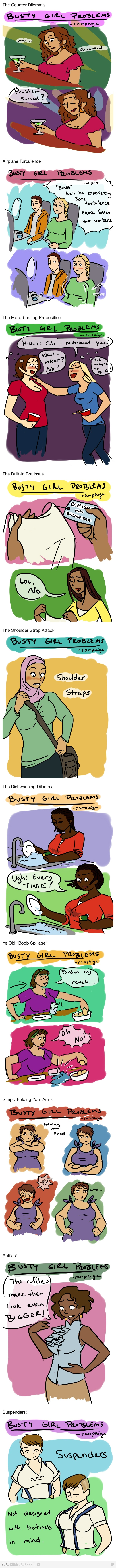 """""""Busty Girl Problems"""" - Yes, yes, and yes Lmao....so true"""