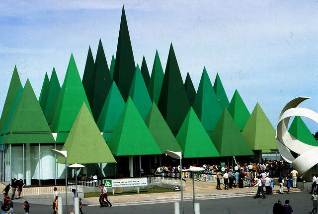 Canadian Pulp and Paper Pavilion at Expo '67 - Montreal, Quebec by The Pie Shops, via Flickr