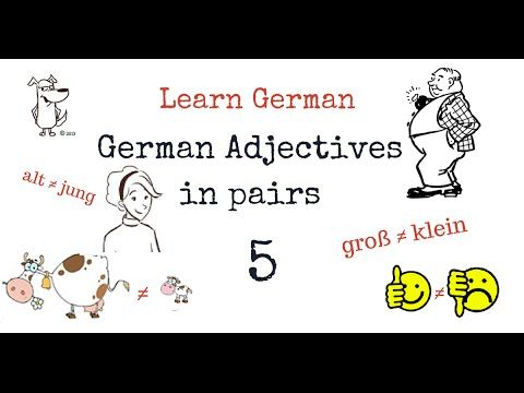 Learn German Adjectives with Opposites - Part 5 - Other Important Adject...