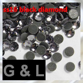1440 шт. ss16 Black Diamond DMC Исправления Стразы Для Nail Art Поставки Flatback Стекло Gems 3D Ногтей Ювелирные Украшения