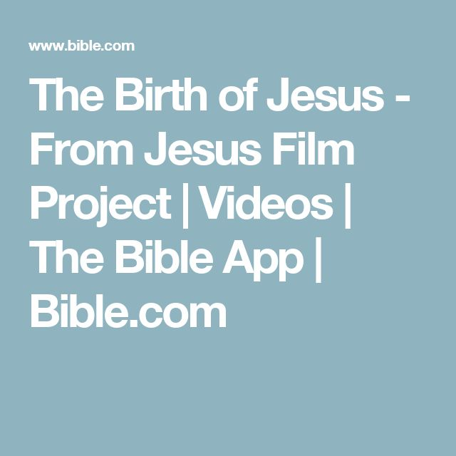 The Birth of Jesus - From Jesus Film Project | Videos | The Bible App | Bible.com