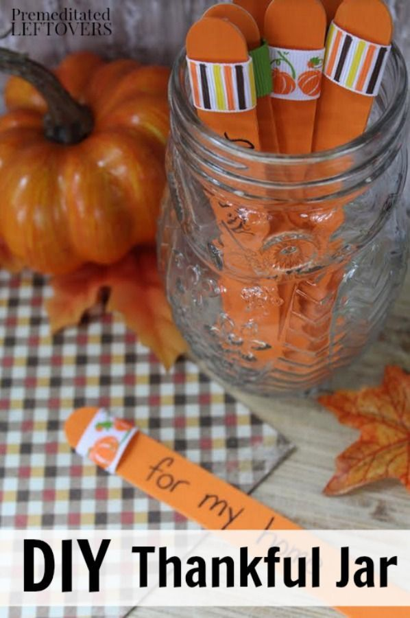 Teaching children gratitude can be challenging. This DIY Thankful Jar Idea for Kids is a great activity to help them focus on the blessings in their life this Thanksgiving.This is a great family crafts project, but also works well in classrooms and Sunday school.