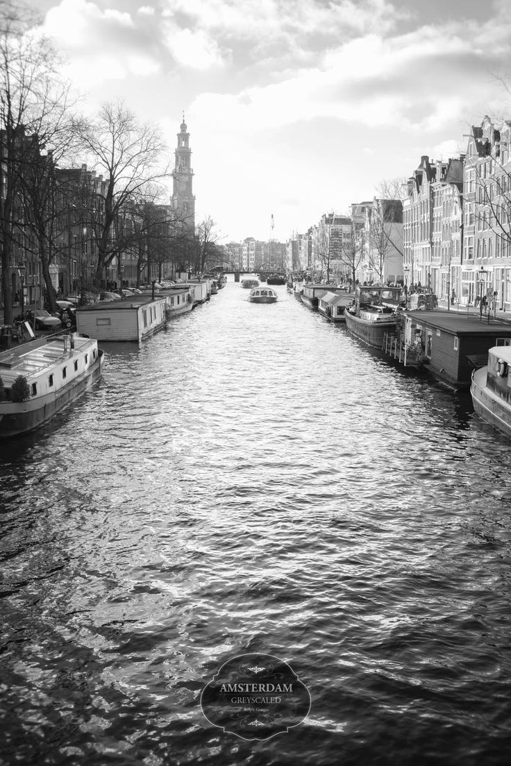 #amsterdam #grachten #black and #white #travel #photography www.artechs.eu