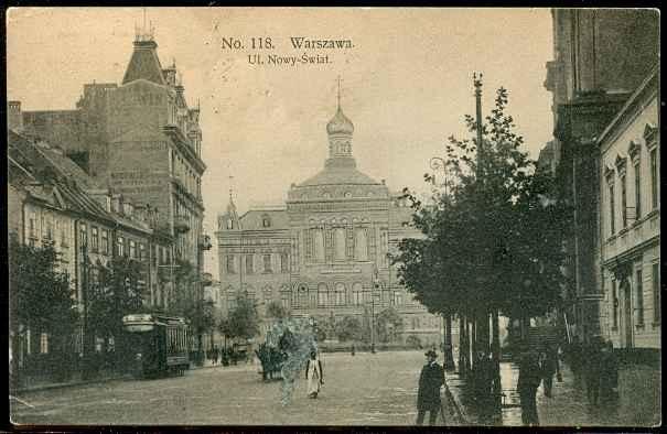 ulica Nowy Świat Stara Pocztówka Warszawa