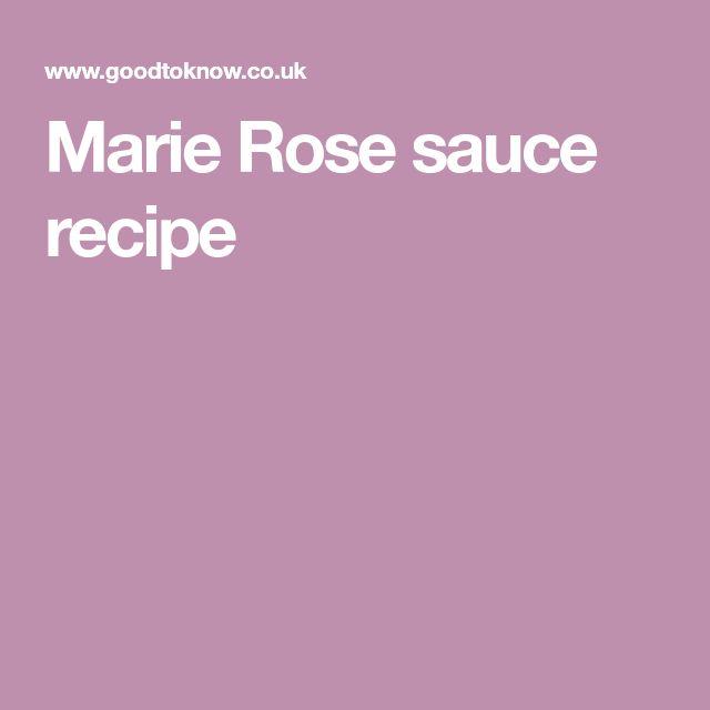 Marie Rose sauce recipe