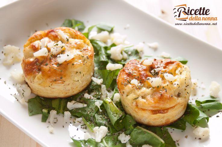 Sformatini di cavolfiore al formaggio #recipe #ricette #foodideas #foodcreative