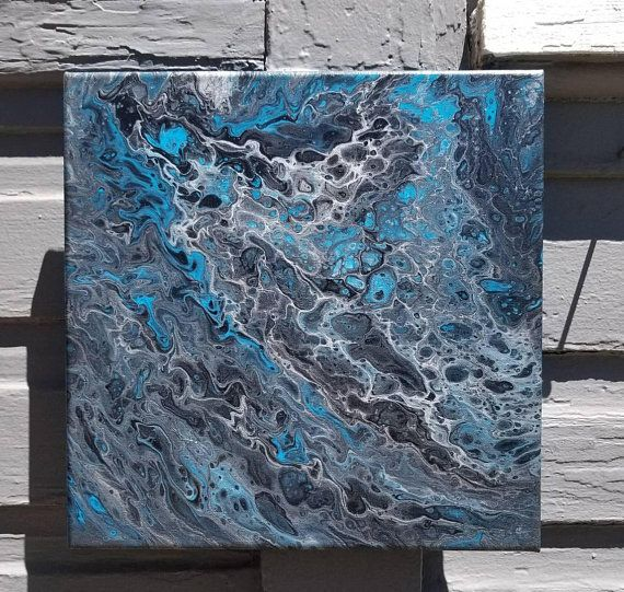 Blue Silver And Black Picture Metallic Wall Art Metallic Teal Wall Hanging Black Silver Wall Decor Gift For Silver Wall Decor Metal Wall Art Black Picture