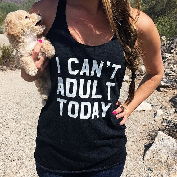 I Can't Adult Today Shirt. Lazy Day T-shirt. Hipster Shirt. Funny T-shirt. Hipster Clothing. Drinking Shirts. Drinking Tank. Brunch Shirt.