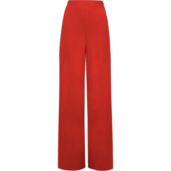 Cherry Wide Leg Palazzo Trousers ($18) ❤ liked on Polyvore featuring pants, red, wide-leg pants, palazzo pants, womens plus pants, red trousers and wide leg flare pants