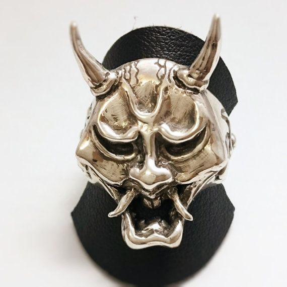 sterling silver one of a kind japan hannya oni ring by urchinjp