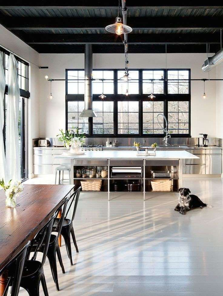 Cucina loft in stile industriale