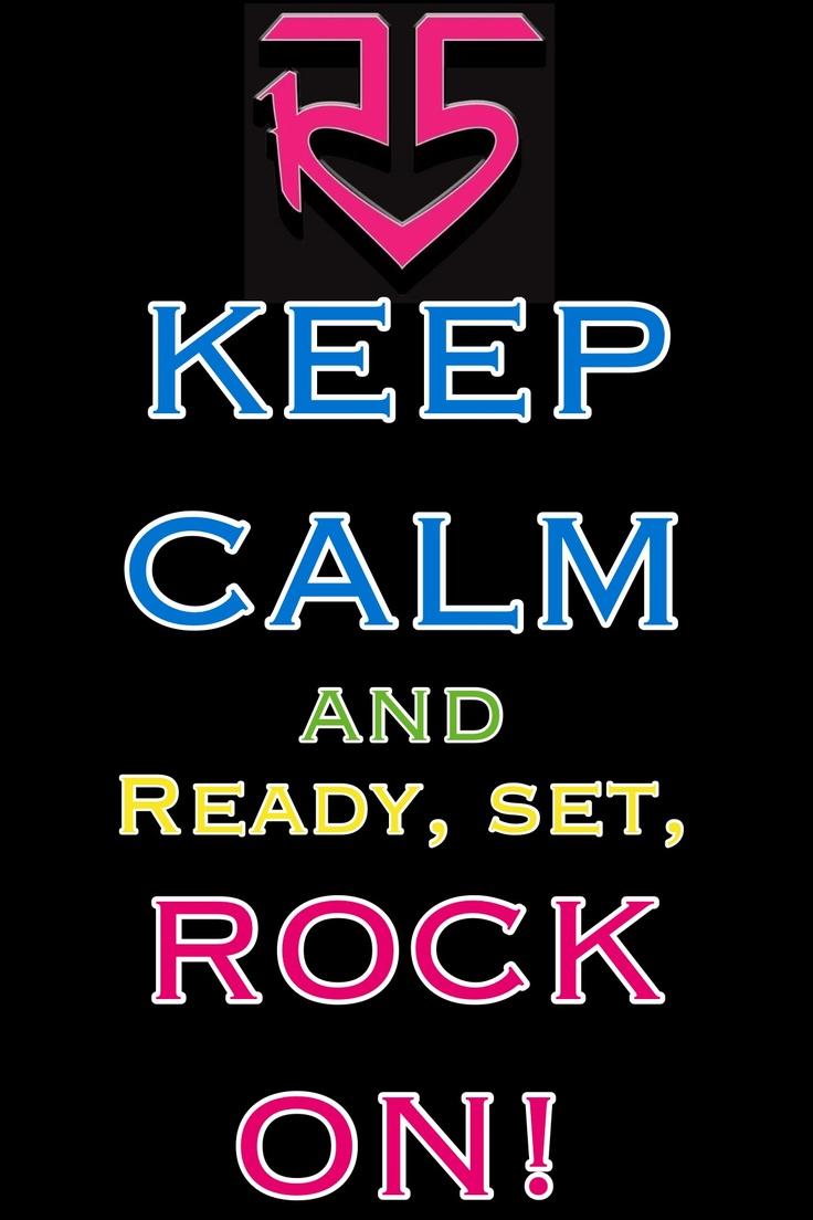 I will ready set rock on but I won't keep calm