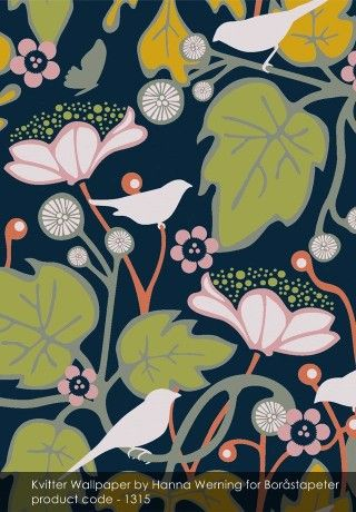 Kvitter Wallpaper by Hanna Werning for Borastapeter - An Interview with Philippa Jeffrey