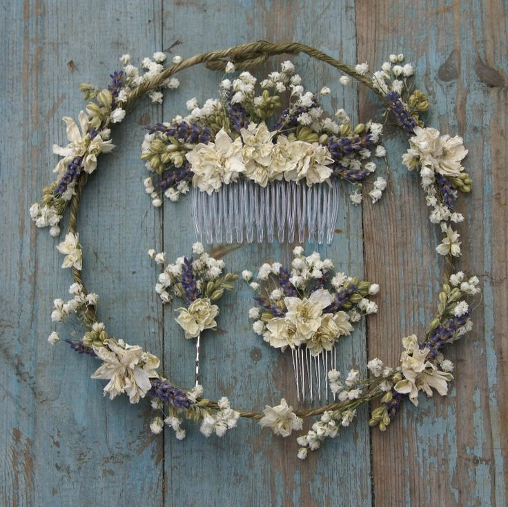 Lavender Twist Baby's Breath Hair Comb | The Artisan Dried Flower Company | Fradswell, Staffordshire