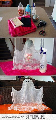 Halloween / Make the shape with bottle, ball and wire.… na Stylowi.pl