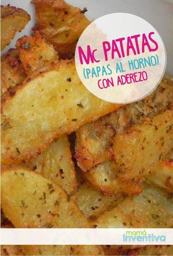 Receta facil con Papas al horno sazonadas   Baked Potatoes easy recipe