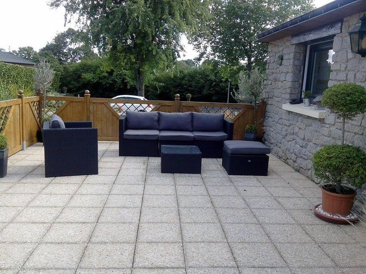 Benito salon de jardin 5 places en r sine tress e - Mobilier jardin resine ...