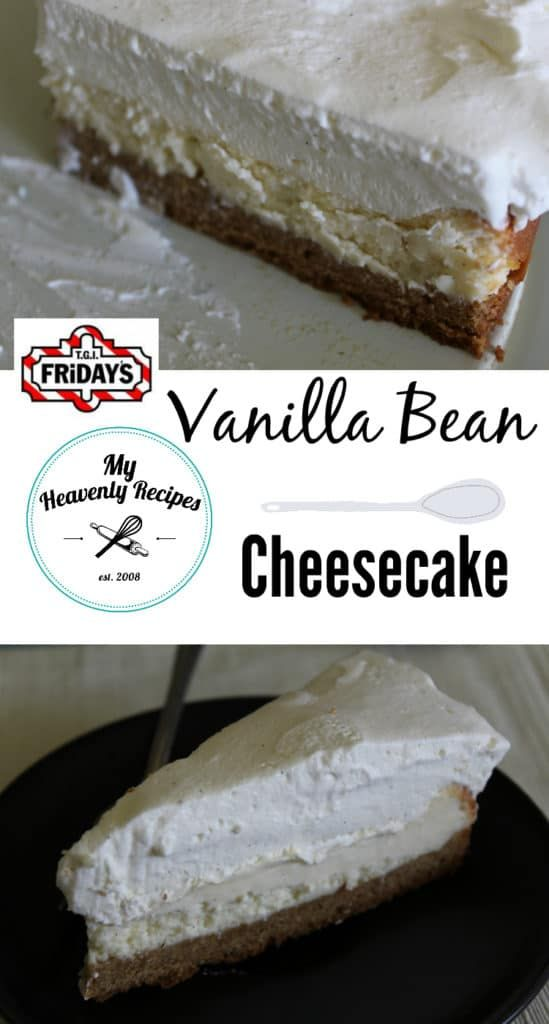 Vanilla Bean Cheesecake just like Tgi Friday's - with the recent closings our of TGI Friday's locations I'm so glad that I have this Vanilla Bean #cheesecake recipe!