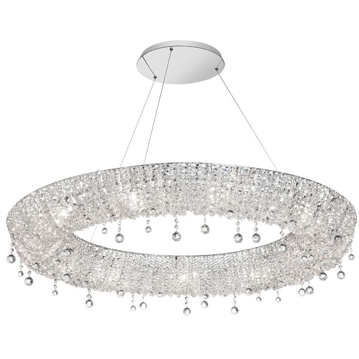 Crystal chandeliers 69 pinterest dainolite 22 light oval crystal chandelier polished chrome 36 wide lux mozeypictures Images