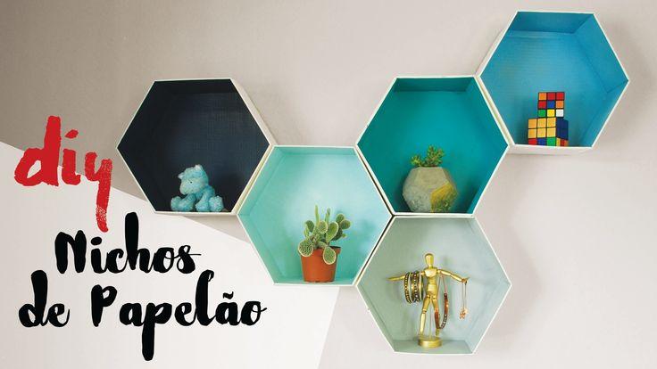 DESAFIO DIY | Nichos Hexagonais de Papelão por Isabelle Verona
