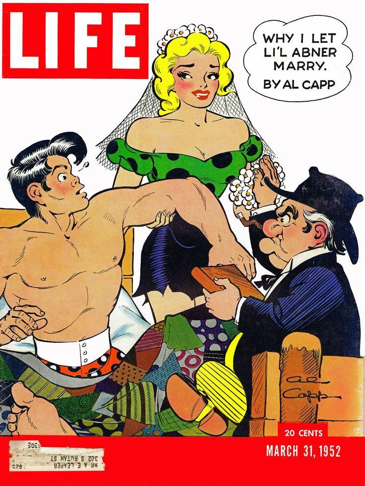 Li'l Abner on the cover of Life magazine, 31-Mar-1952