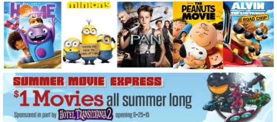 Regal Cinemas Summer $1 Kids Movies  {2016 schedule}