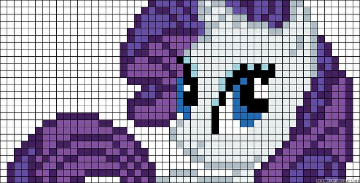 My Little Pony (MLP) Rarity alpha friendship bracelet pattern
