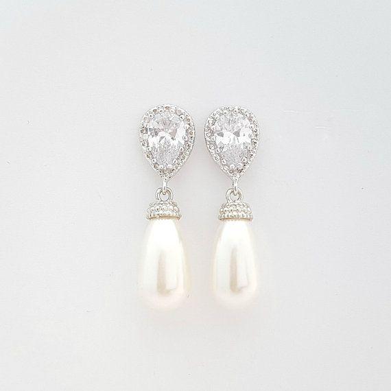 Brautschmuck ohrringe perlen  Die besten 25+ Brautjungfer Ohrringe Ideen nur auf Pinterest ...