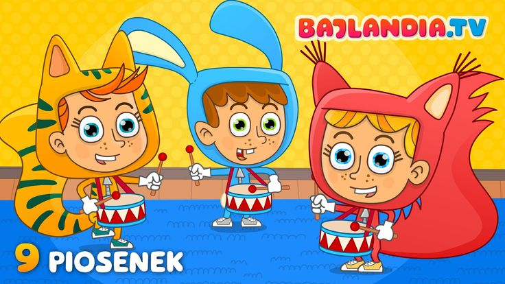 piosenki dla dzieci - ZESTAW 9 piosenek - znane i popularne HITY dla dzi...