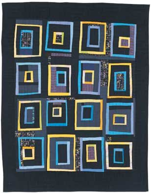 DS Designs Quilt Collection - Mental Blocks Black Twin: Black Backgrounds, Colour, Fab Friends, Fab Artists, Logs Cabin, Black Twin