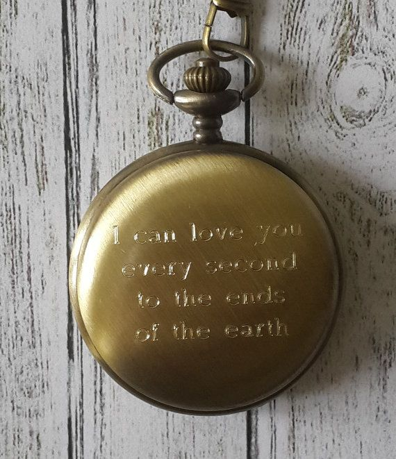Pocket watch fathers day valentines groomsmen gift