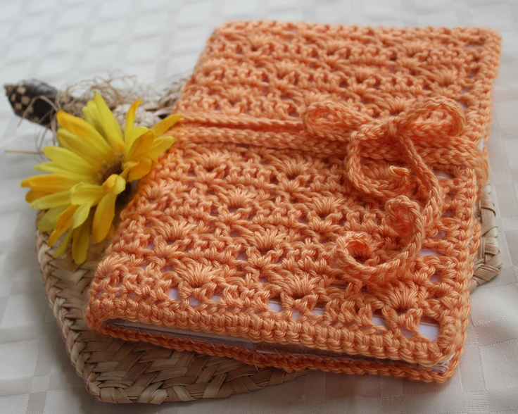 Crochet Book Cover Tutorial : Crochet book cover bible journal