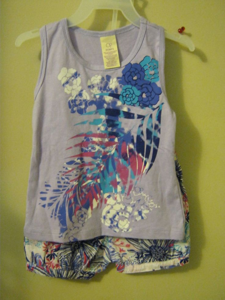 new purple girl's Ocean Pacific sunsuit shorts outfit 18mon  children's clothing #oceanPacific #Everyday