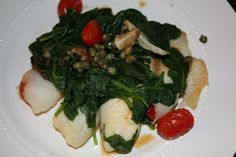 Medifast Recipes: Steamed Tilapia with Spinach, Tomatoes and Capers