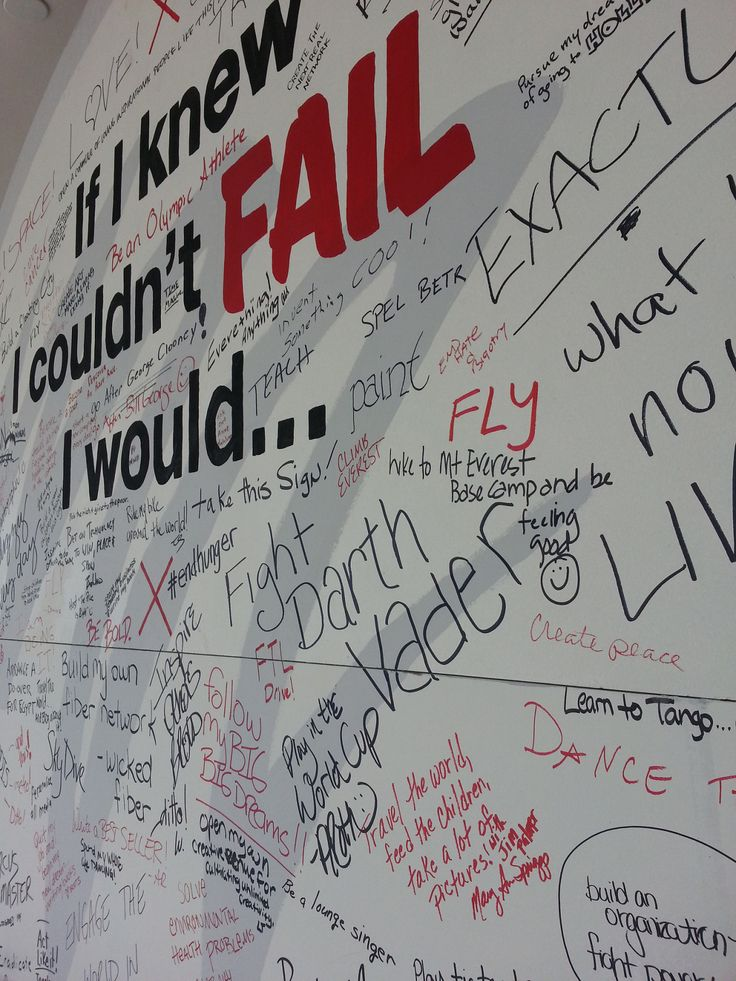 If I knew I couldn't fail, I would… Photos of conversation boards from TEDxKC, a TEDx event in Kansas City, Missouri. Attendees contributed endings for the sentence If I knew I couldn't fail, I...