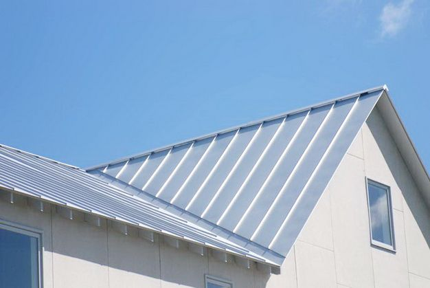 Galvanized steel roof