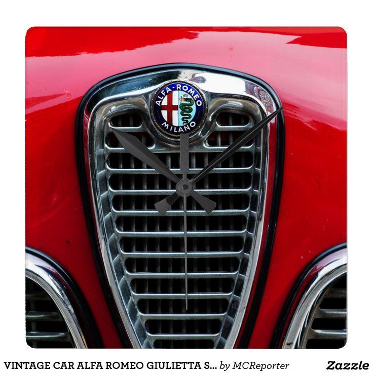 VINTAGE CAR ALFA ROMEO GIULIETTA SPRINT VELOCE WALLCLOCKS