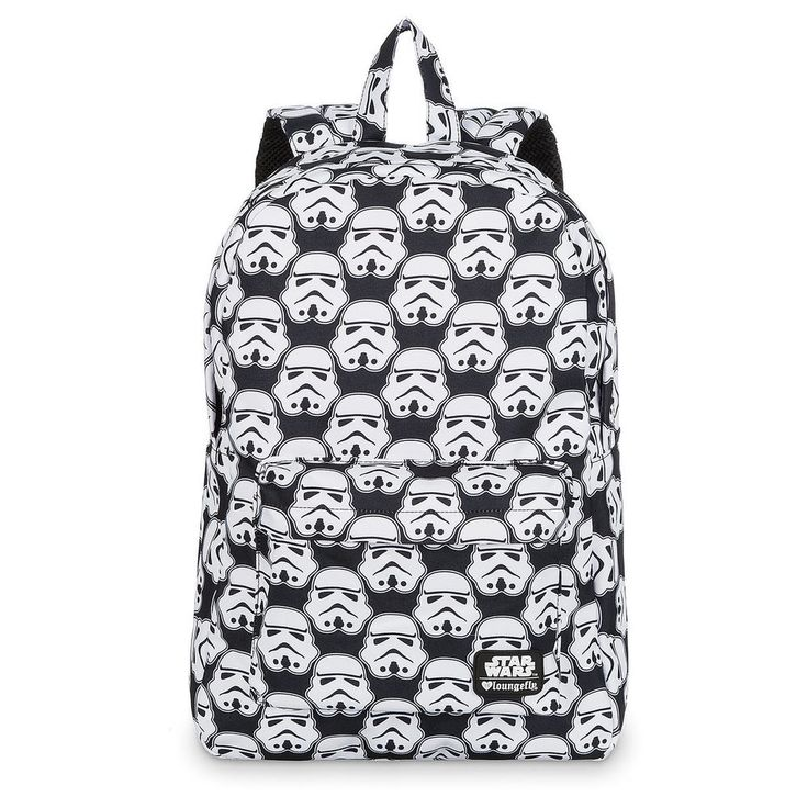Star Wars Stormtrooper Backpack NEW by Loungefly Black White Helmets Galactic +